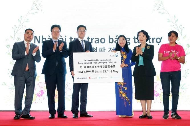 Hơn 1 triệu USD là số tiền được tập đoàn Hyundai tại trợ cho dự án này