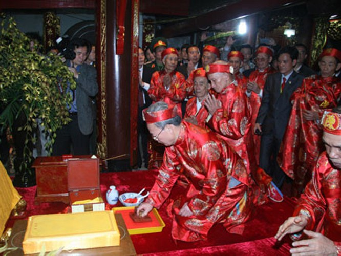 Lễ hội khai ấn đền Trần - Ảnh: Hoàng Long