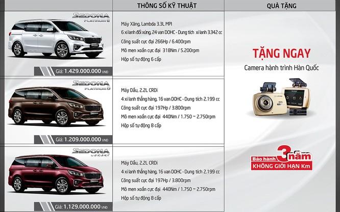 Kia Sedona 2018 bắt đầu được bán chính thức, nhiều nâng cấp, giá từ 1,129 tỷ đồng ảnh 4