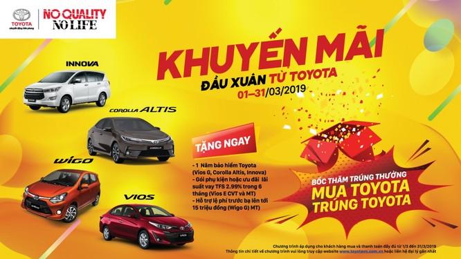 Khách hàng được lợi gì khi mua xe Toyota trong tháng sau Tết? ảnh 3
