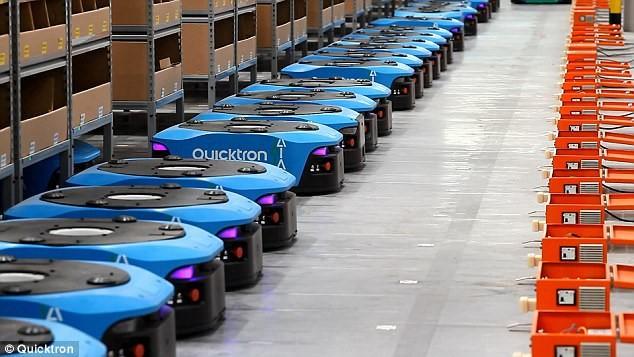 Trung Quốc có nhà kho robot 'khủng' cho ngày hội mua sắm Singles Day - ảnh 1