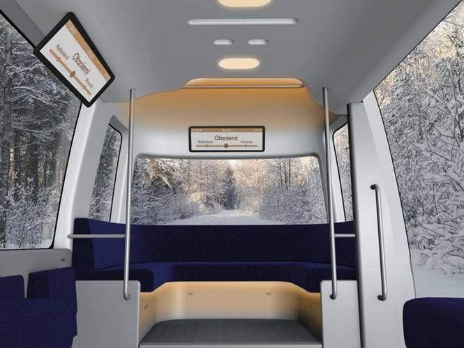Hãng bán lẻ Nhật Bản phát triển xe buýt tự lái phong cách tối giản - ảnh 3