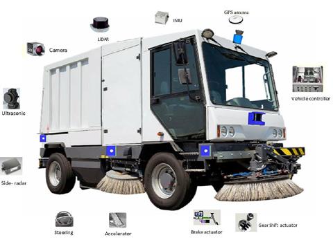 Singapore chạy thử xe quét đường tự lái - ảnh 1