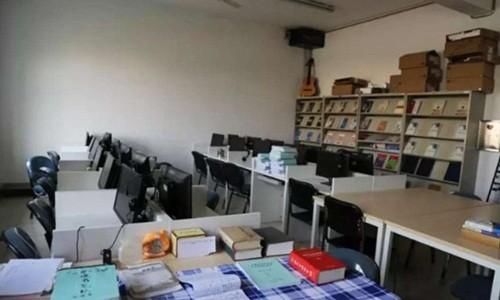 Phòng học tập tại nhà tù. Ảnh: SCMP.
