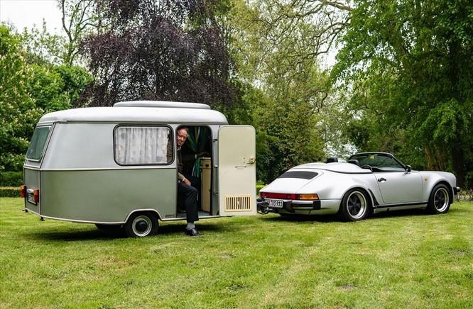 """Chuyện lạ: Độ xế Porsche cổ 30 năm tuổi để gắn thêm """"nhà mini"""" đằng sau ảnh 3"""