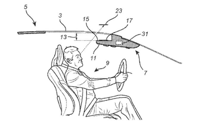 Volvo sáng chế màn hình hiển thị trên trần xe ảnh 1