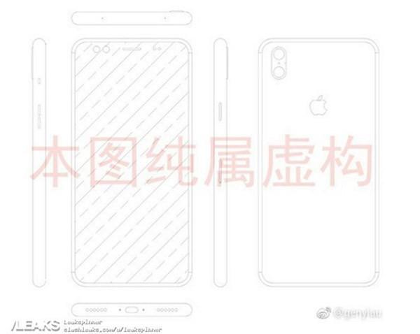 Rò rỉ bản vẽ nghi là iPhone 8 với camera kép nằm dọc ảnh 1