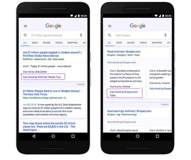"""Google tuyên chiến với """"tin vịt"""" bằng thẻ """"Xác minh chân thực"""" ảnh 1"""