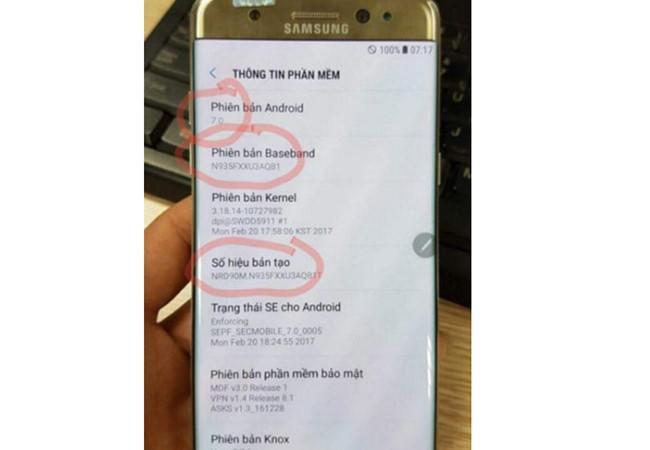 Note 7 tân trang có thể được bán tại Việt Nam