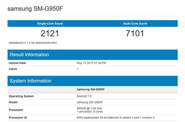 """Galaxy S8 phiên bản Exynos phá vỡ """"bức tường"""" Geekbench 7000 điểm ảnh 1"""