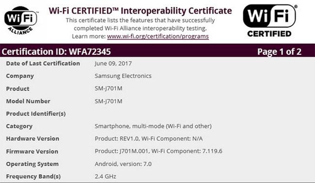 Samsung Galaxy J7 (2015) sẽ được cập nhật Android 7.0 ảnh 1