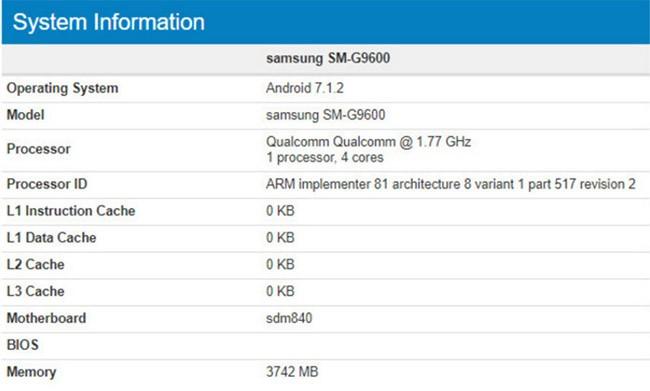 Samsung SM-G9600 lộ diện, có phải là Galaxy S8 mini? ảnh 1