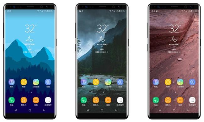 Ảnh chụp so sánh mặt kính Galaxy S8+ và Note 8 ảnh 1