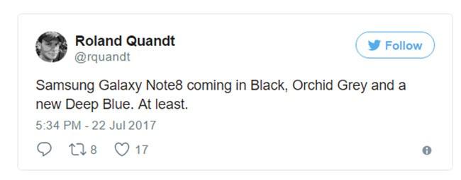 Galaxy Note 8 sẽ có màu mới chưa từng xuất hiện? ảnh 1
