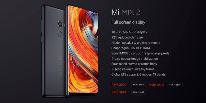 Mi MIX 2 chính thức ra mắt: màn 6 inch, chip 835, hỗ trợ đa mạng ảnh 6