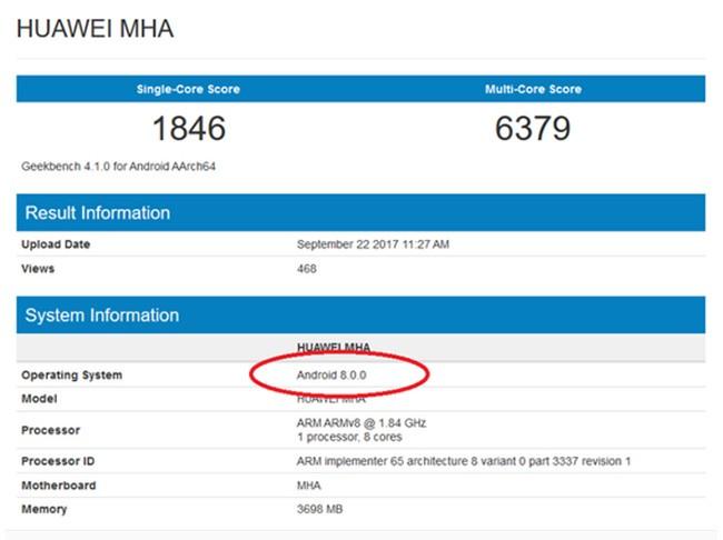 Huawei Mate 9 sắp được cập nhật Android 8.0? ảnh 1