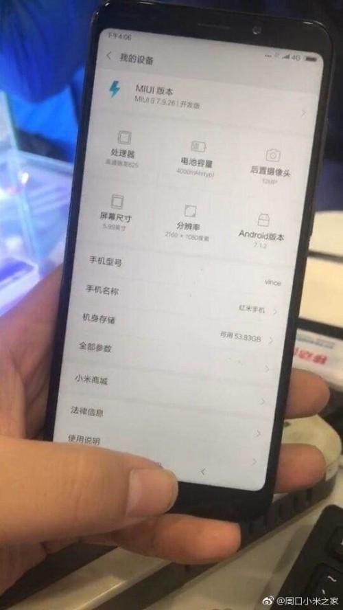 Xuất hiện thêm các hình ảnh chiếc Xiaomi Redmi Note 5 ảnh 2