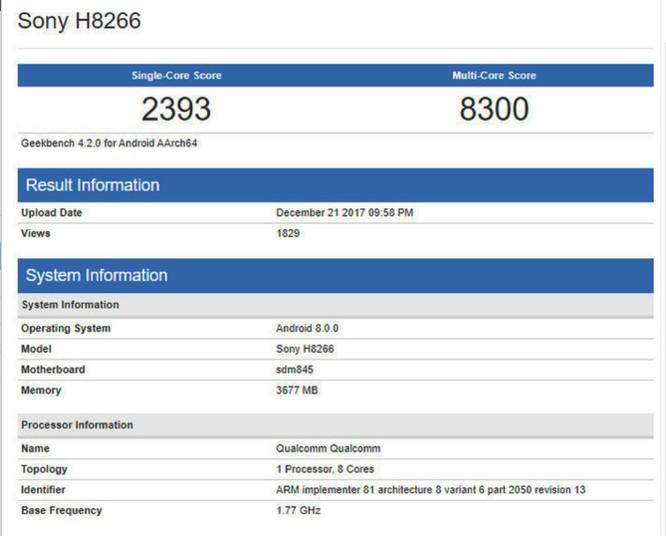 Điểm benchmark hé lộ flagship Sony dùng chip Snapdragon 845 ảnh 1