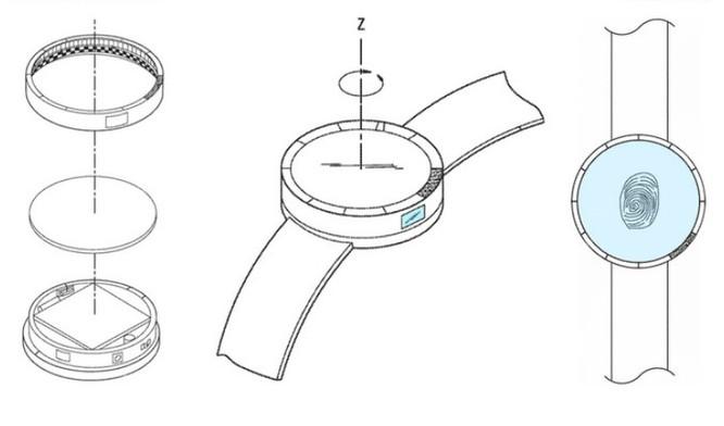 Đồng hồ Gear S4 sẽ có cảm biến vân tay, dây đeo chứa pin? ảnh 2