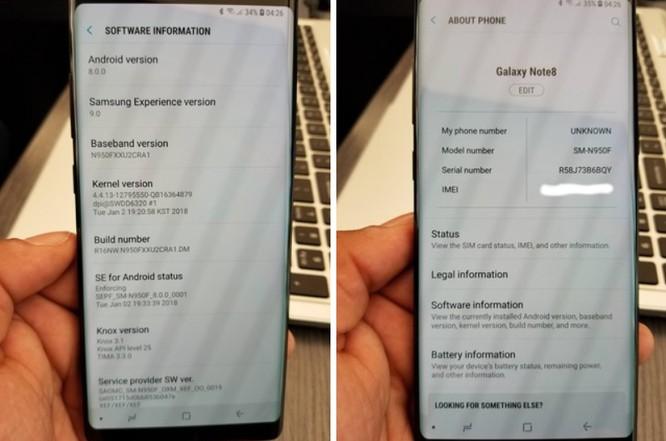 Một số chiếc Note 8 được cập nhật Android Oreo, Note 8 của bạn đã cập nhật chưa? ảnh 1