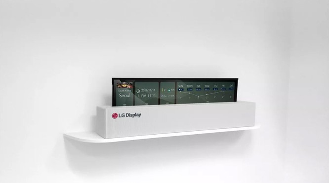 LG sản xuất thành công tivi OLED 65 inch cuộn lại được ảnh 1