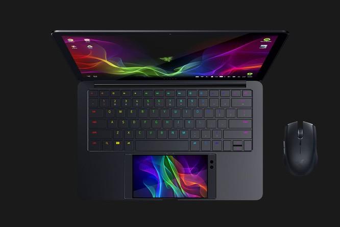 """Laptop """"dị"""" của Razer sử dụng smartphone làm touchpad và màn hình thứ hai ảnh 1"""