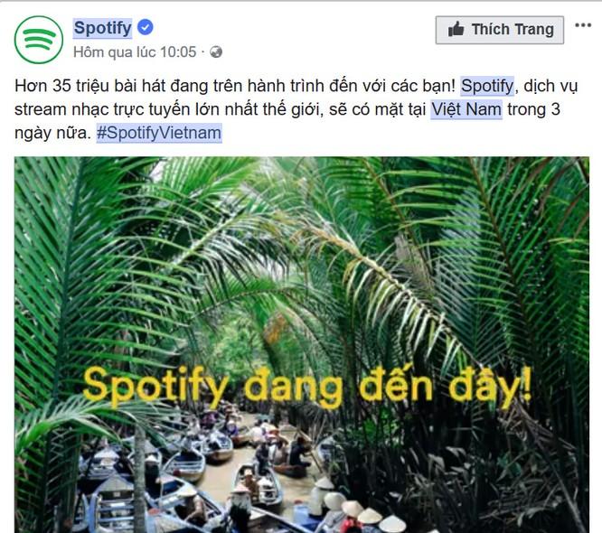 Spotify chính thức vào Việt Nam từ 13/3, Zing MP3, Nhaccuatui lo lắng? ảnh 1