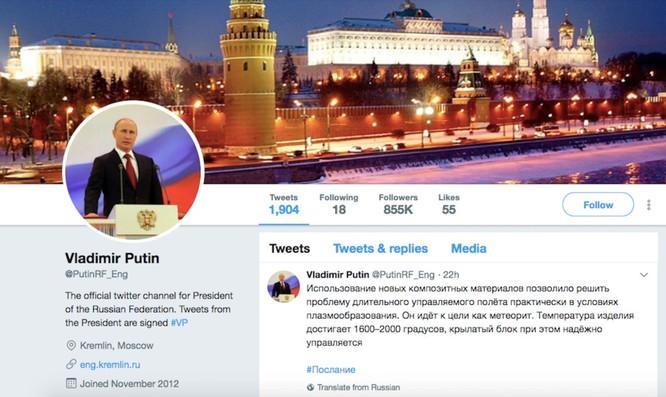 Tổng thống Putin follow 19 người trên Twitter, trong đó có một người đã chết cách đây 5 năm ảnh 1