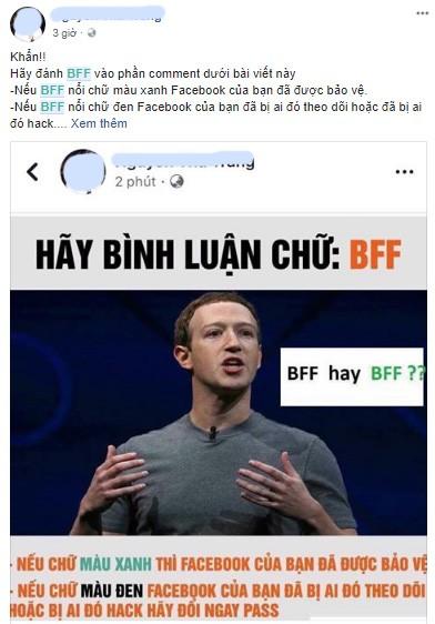 Kiểm tra bảo mật Facebook bằng cú pháp BFF chỉ là trò câu Like ảnh 1