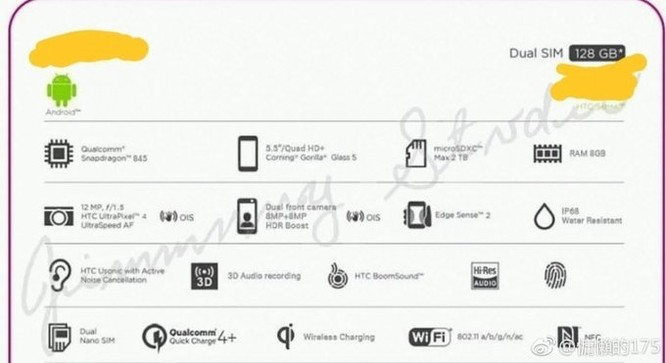 HTC U12+ lộ cấu hình: rất đáng mua! ảnh 1