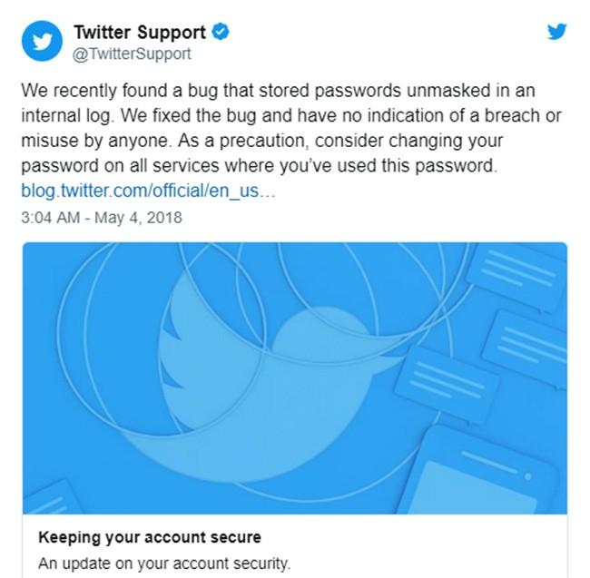 Twitter thúc giục người dùng đổi mật khẩu ngay lập tức ảnh 1