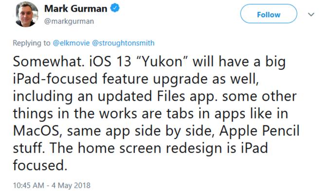 """Hé lộ một số tính năng của hệ điều hành iOS 13 """"Yukon"""" ảnh 1"""