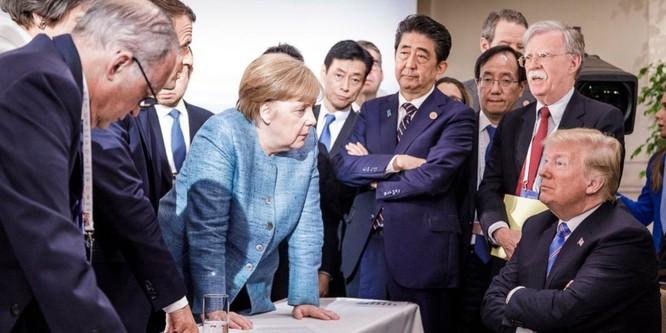 """Chỉ một tấm ảnh trên Twitter cũng cho thấy mức độ """"căng như dây đàn"""" của Mỹ với các thành viên G7 ảnh 1"""