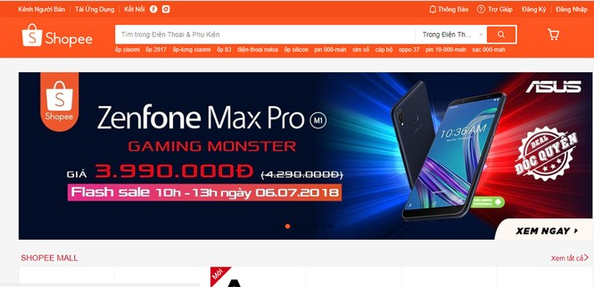 10-13 giờ hôm nay, ZenFone Max Pro được bán với giá khuyến mãi trên Shopee ảnh 1
