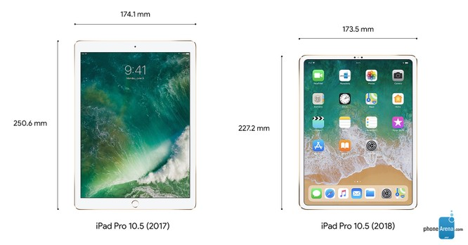 """iPad Pro 2018 và iPad Pro 2017: So sánh nhanh kích thước 2 mẫu máy tính bảng """"khủng long"""" của Apple ảnh 2"""