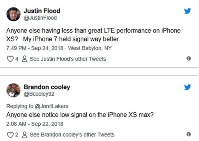 Một số chủ sở hữu iPhone Xs và Xs Max than phiền về tình trạng sóng kém và Wi-Fi yếu ảnh 1
