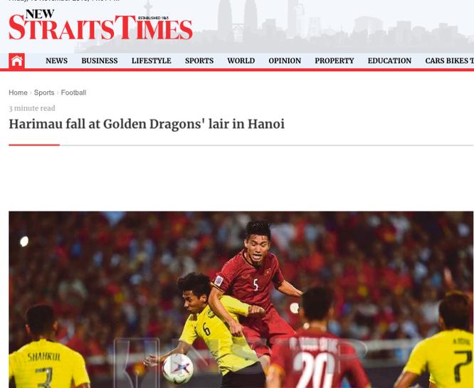 Báo chí Malaysia viết gì về trận thua trước đội tuyển Việt Nam? ảnh 1