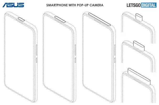 Điện thoại Asus sẽ có thiết kế camera thò thụt và khoét lỗ màn hình ảnh 1