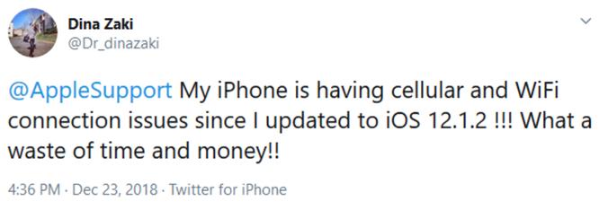 Apple tung ra iOS 12.1.2 để chữa lỗi mất sóng nhà mạng, nhưng lại làm mất kết nối Wi-Fi ảnh 1