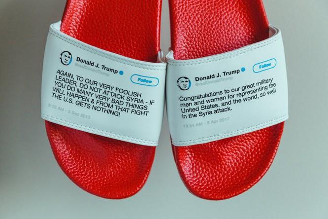 In lên dép những phát ngôn đầy mâu thuẫn của Tổng thống Trump, anh chàng này đã bán hết bay 1000 đôi trong vòng chưa đầy 1 tháng ảnh 10