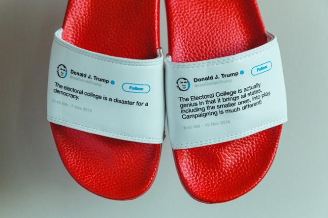 In lên dép những phát ngôn đầy mâu thuẫn của Tổng thống Trump, anh chàng này đã bán hết bay 1000 đôi trong vòng chưa đầy 1 tháng ảnh 12