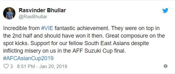 Bạn bè quốc tế nói gì về chiến thắng của đội tuyển Việt Nam trước Jordan? ảnh 7