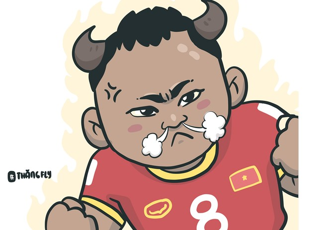 Loạt tranh vui ngộ nghĩnh về các cầu thủ đội tuyển Việt Nam sau chiến thắng trước Jordan