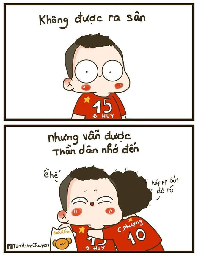 Loạt tranh vui ngộ nghĩnh về các cầu thủ đội tuyển Việt Nam sau chiến thắng trước Jordan ảnh 9