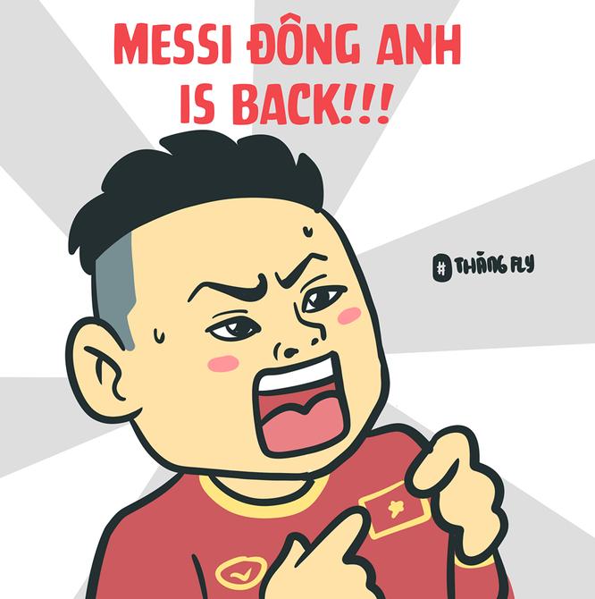 Loạt tranh vui ngộ nghĩnh về các cầu thủ đội tuyển Việt Nam sau chiến thắng trước Jordan ảnh 3