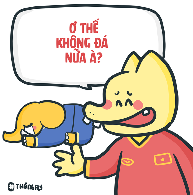 Loạt tranh vui ngộ nghĩnh về các cầu thủ đội tuyển Việt Nam sau chiến thắng trước Jordan ảnh 11