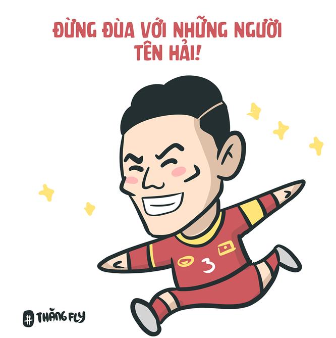 Loạt tranh vui ngộ nghĩnh về các cầu thủ đội tuyển Việt Nam sau chiến thắng trước Jordan ảnh 1
