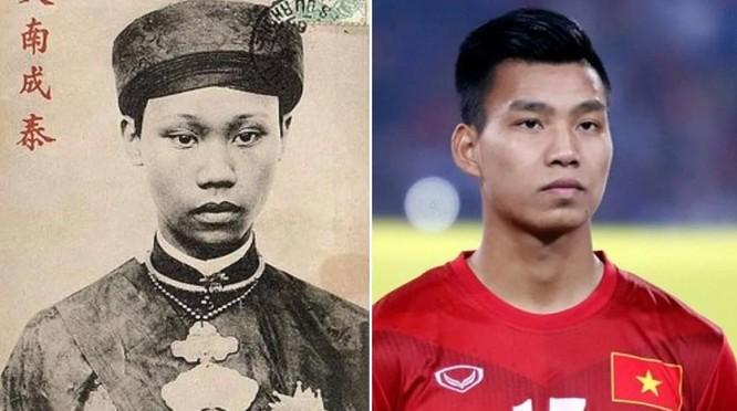 Kinh ngạc hậu vệ Văn Thanh có gương mặt giống hệt vị vua triều Nguyễn ảnh 1