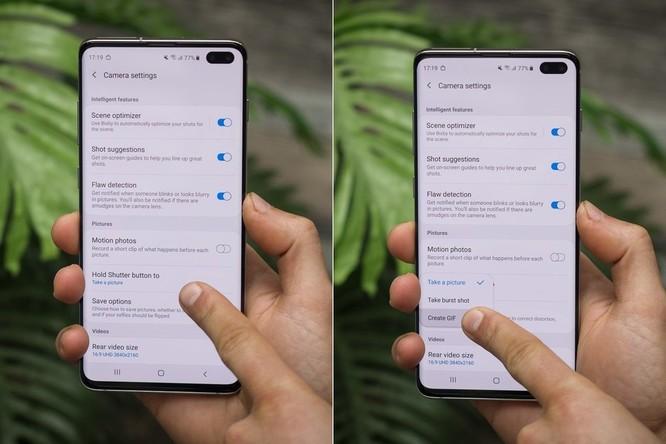 Cách tạo ảnh GIF trên Galaxy S10, S10+ hoặc S10e của Samsung mà không cần tải xuống bất kỳ ứng dụng nào ảnh 3