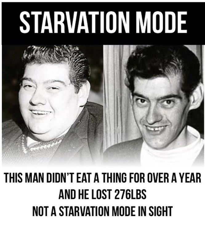 Một người đàn ông không ăn trong 382 ngày mà vẫn sống sót ảnh 1